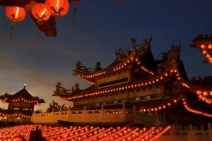 Chinese Temple Evening