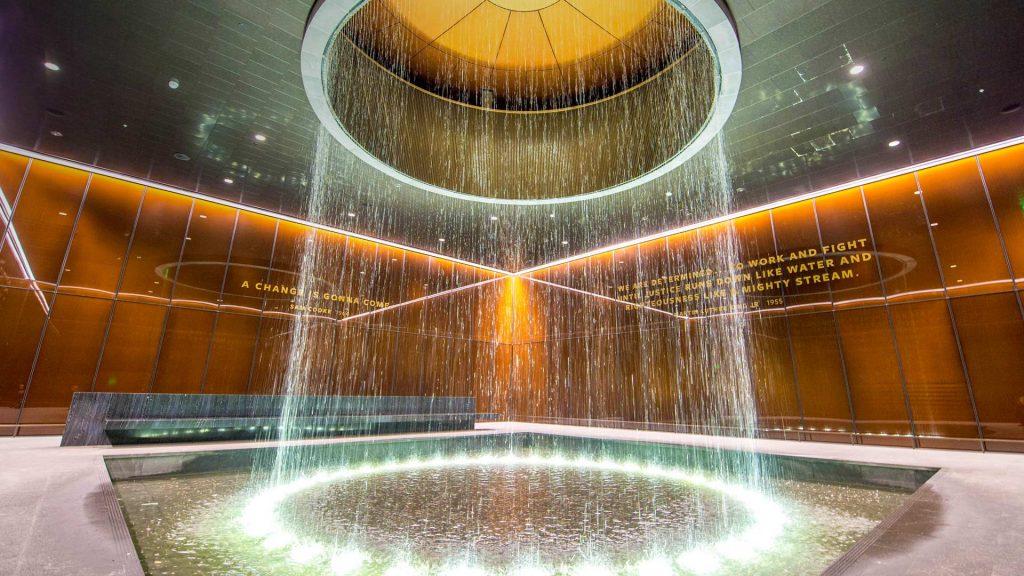 Contemplative Court fountain