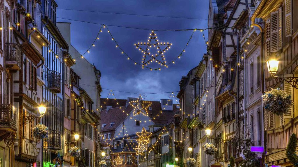 Decorated Street Alsace