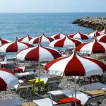 Red White Umbrellas