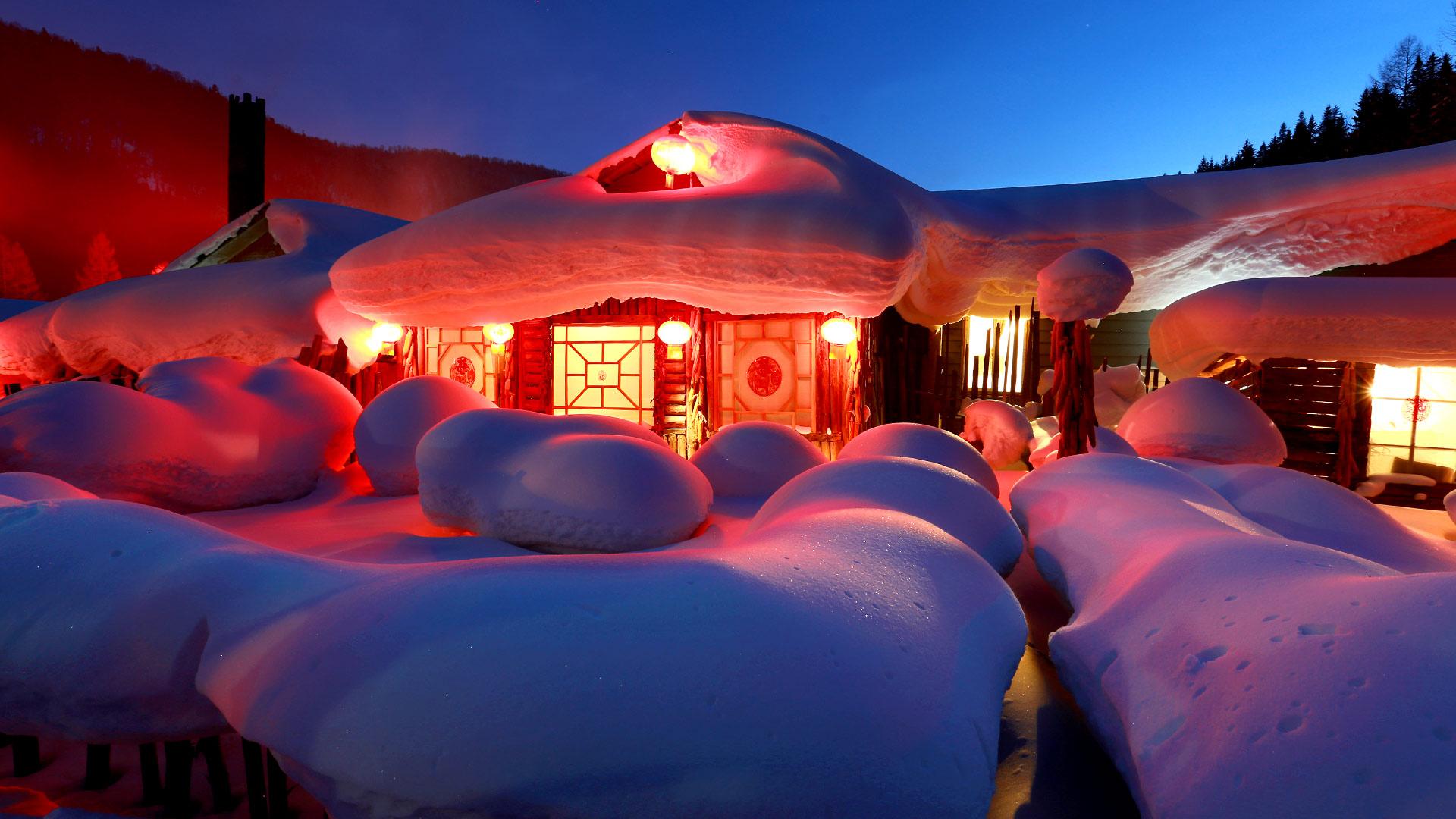 Farm Snow Village