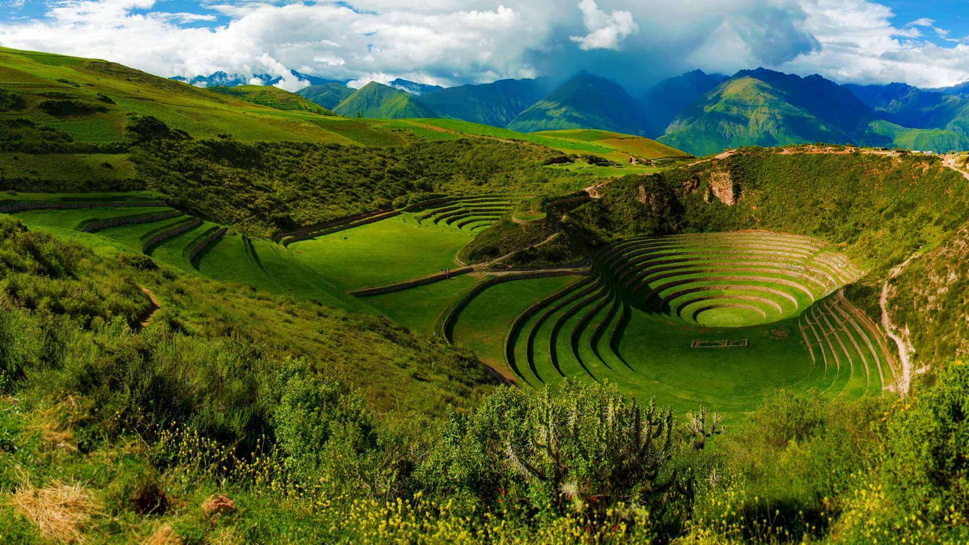 Circular Inca Terraces