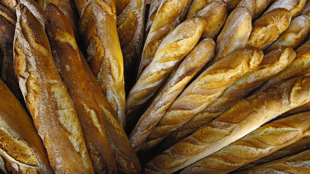 Stack Fresh Baguettes