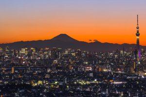 Sky Tree And Fuji
