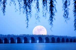 Stone Bridge Moonrise