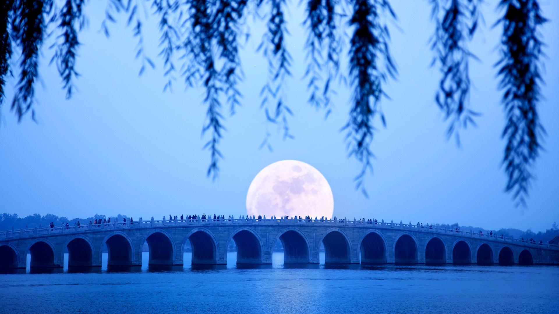 Stone Bridge Moonrise