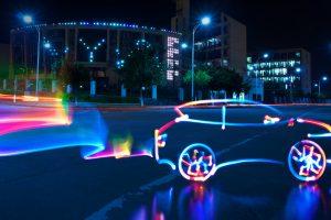 luminated Car Colorful Lights