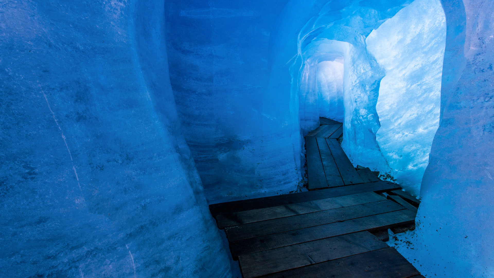Inside Rhone Glacier