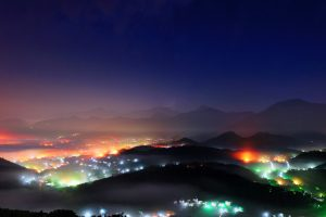 Night View Wu Town