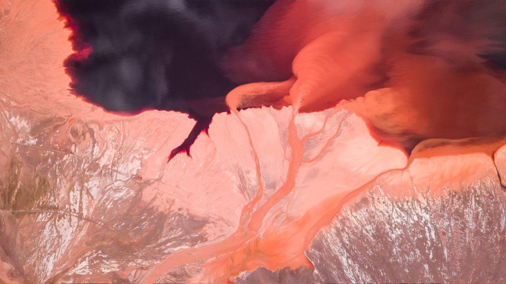 Abstract Salt Beds