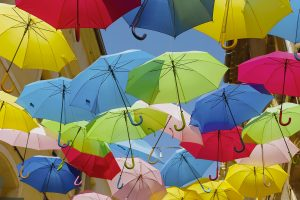 Umbrellas March Beziers