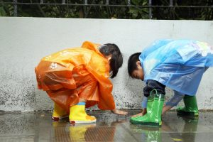 Children In The Rain