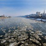 Frozen Loire River