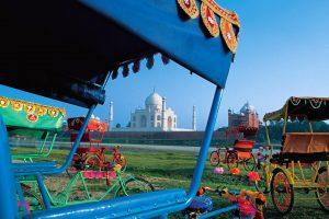 Rickshaws Taj Mahal