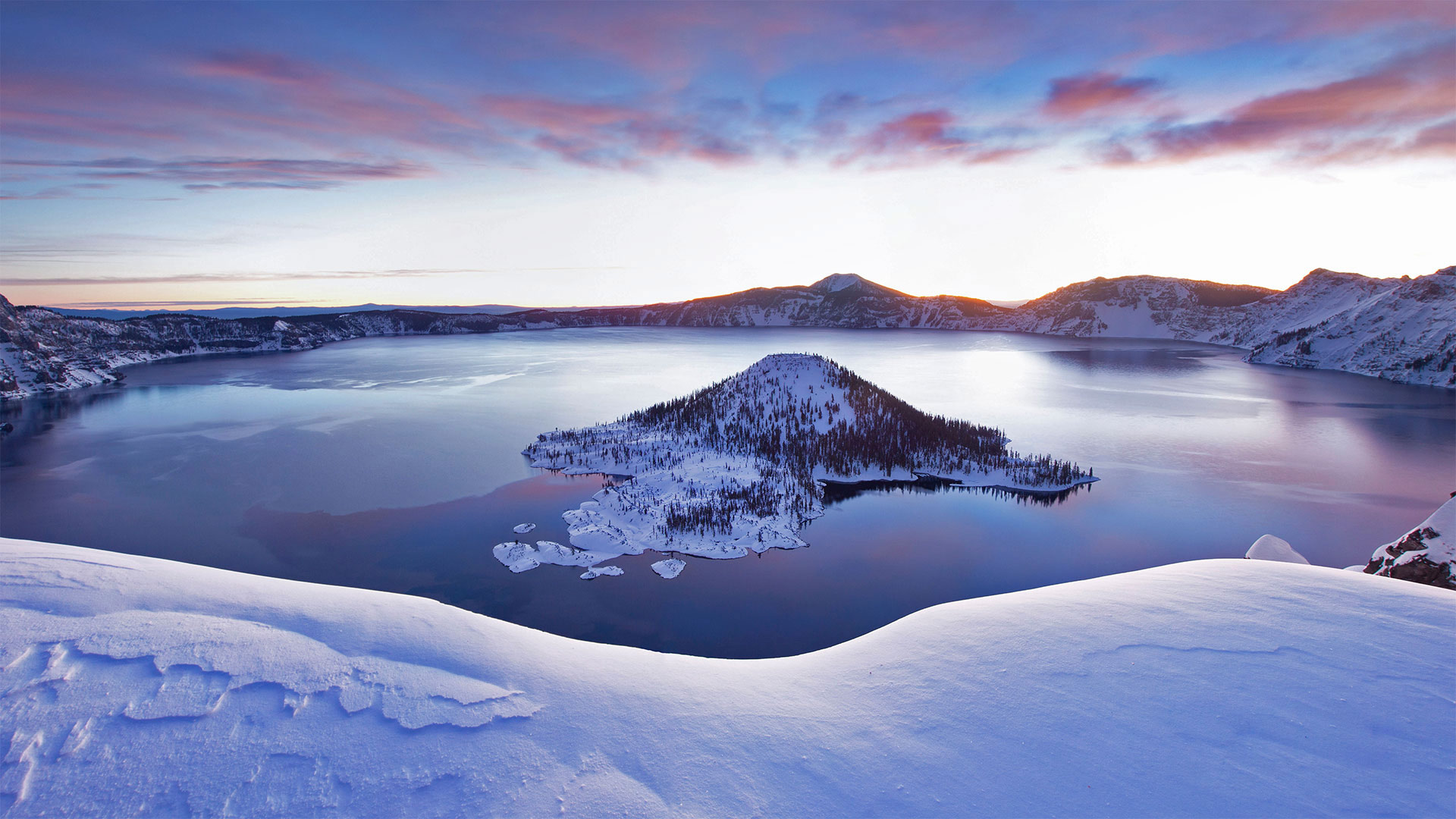 Snow Crater Lake