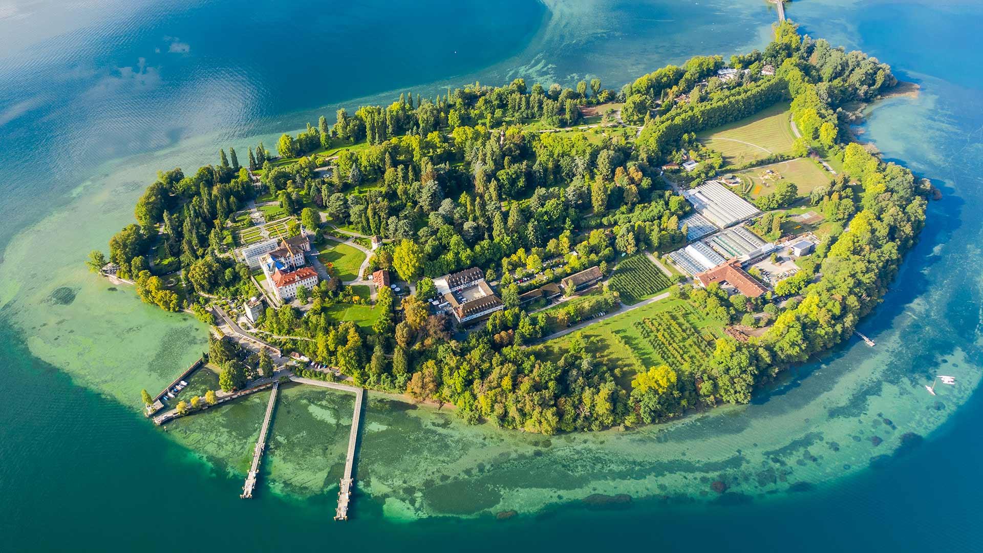 Insel Mainau Aerial